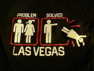 LAS VEGAS PROBLEM SOLVED T-SHIRT Size Large New