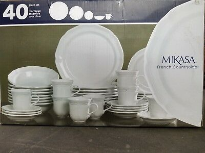Mikasa French Countryside 40-Piece Dinnerware Set Service for 8 & MIKASA Parchment 40-Piece Dinnerware Set Service for 8 - $149.99 ...