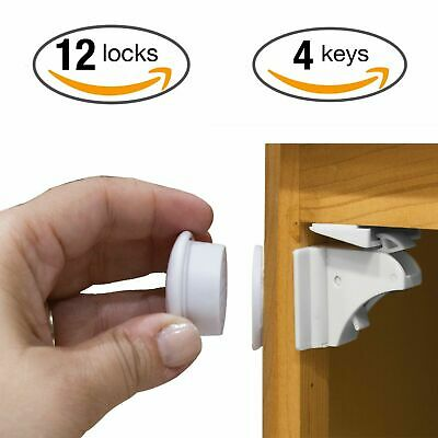 Child Safety Cabinet Locks, Magnetic Cabinet Locks Set - 3M. No Tools Needed!
