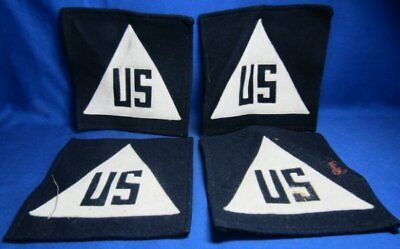 WWII to 1960s Civil Defense US 4 1/2 Inch Patches Lot Of 4