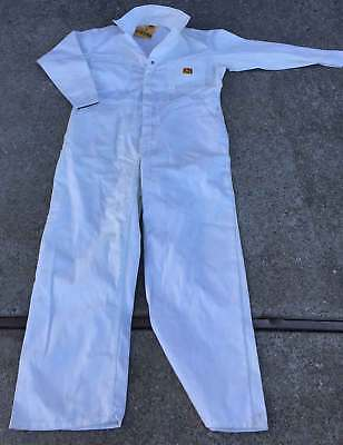 NIB Vintage Rare Ben Davis White Coveralls Size 44 X Large with Original Tags