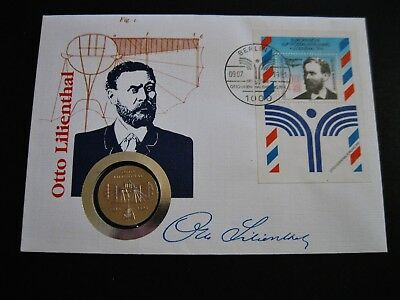 "Numisbrief  DDR 5 Mark  1973  ""Otto Lilienthal"""