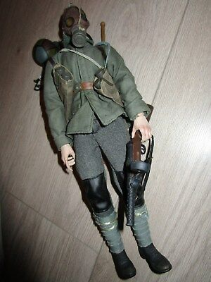 "Sideshow WW1 Figur Bayonets an barbed Wire German Sturmtruppe 1/6 12"" top!"