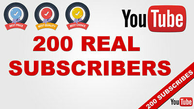 200+ REAL Youtube Subs ■■■ High Quality 100% Safe!! Non Drop!