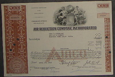 Air Reduction Company, Incorporated 1967 50 Shares