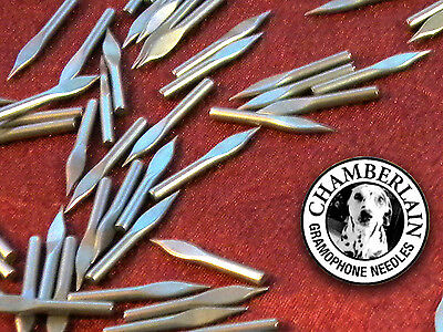 100 Spearpoint CHAMBERLAIN NEEDLES for Phonographs, Victrola & old Gramophones