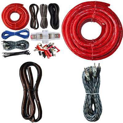 parts & accessories electronic accessories car audio amp wiring kit  amplifier sound system 4 gauge cable wire installation