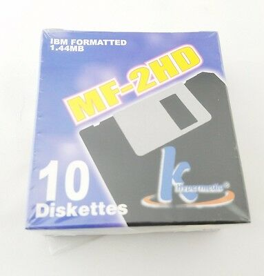 KHypermedia MF-2HD IBM Formatted 1.44MB 10 Diskettes 3.5 Inch Sealed
