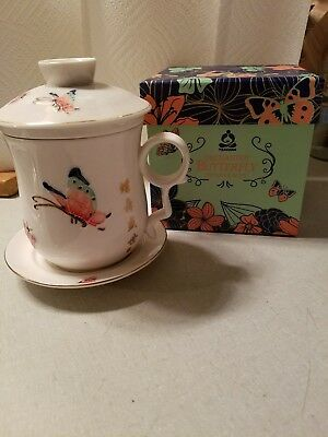 Lovely TeavanaEnchanted Butterfly Infuser Mug And Gift Box