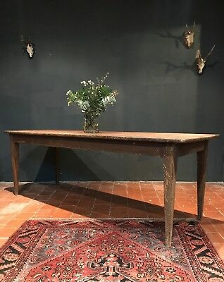19th Century French Original Painted Country Farmhouse Kitchen Dining Table