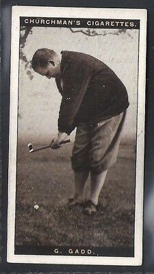Churchman-Famous Golfers Golf-#11- George Gadd