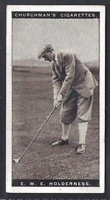 Churchman-Famous Golfers Golf-#22- Ewe Holderness
