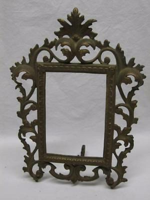 Victorian Rococo Metal Picture Frame Photo Mirror Etc Vtg Old Fancy Ornate Gold