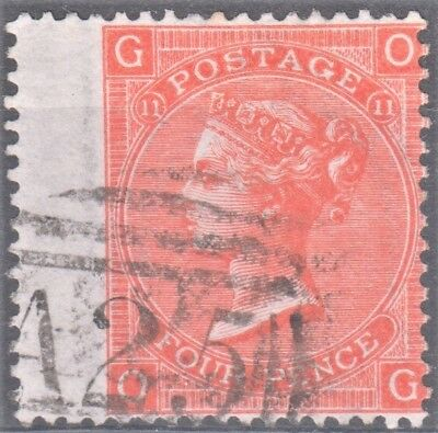 Great Britain QV Used Abroad in Malta 4d Vermillion Winged Copy Nice A25 Cancel