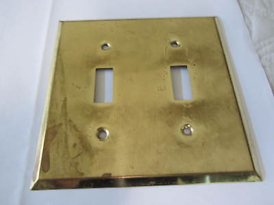 Vintage Brass looking  Double gang Light Switch Cover Plate