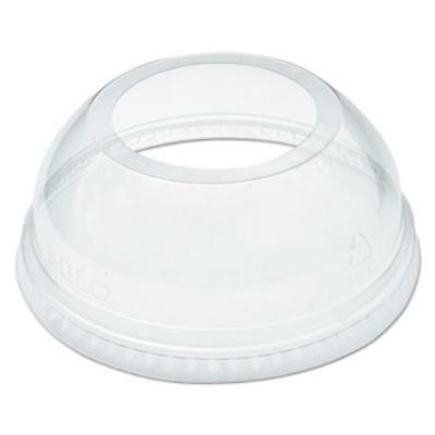 """Dart DCCDLW626 Open-top Dome Lid For 16-24 Oz Plastic Cups, Clear, 1.9""""dia Hole,"""