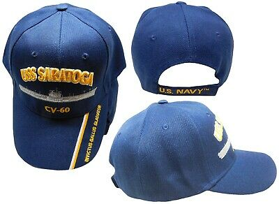 USS SARATOGA CV-60 US NAVY SHIP HAT OFFICIALLY LICENSED BALL CAP CAP550H Hat 13e74f69f6a9
