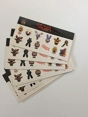 Pack of 15 sheets FNAF Five Nights At Freddy's Stickers -Great for Goody Bags