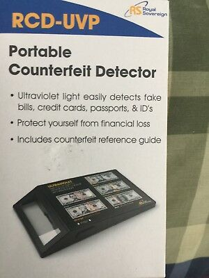 Royal Sovereign RCD-UVP Portable Ultraviolet Counterfeit Bill Detector Money
