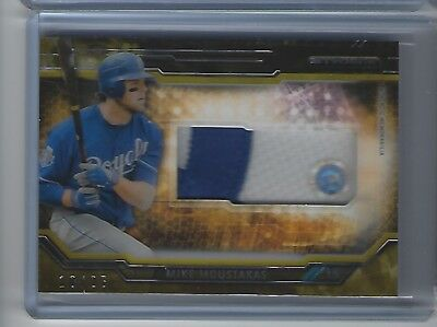 Mike Moustakas 2015 Topps Strata Huge Prime Patch #'d 10/25 Moose!!