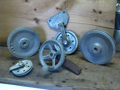 4  Pulleys.Wheel,Valve handle Steampunk Industrial  Vintage Pulley