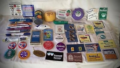 Drug Store/Pharmacy Advertising Pins, Magnets, Pens, Promotional, Miscellaneous