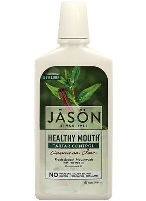 Jason HEALTHY MOUTH Tartar Control Cinnamon Clove Fresh Breath MOUTHWASH 473ml