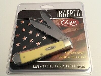 Case XX Trapper Pocket Knife Synthetic Handle Stainless Steel Knives USA Made