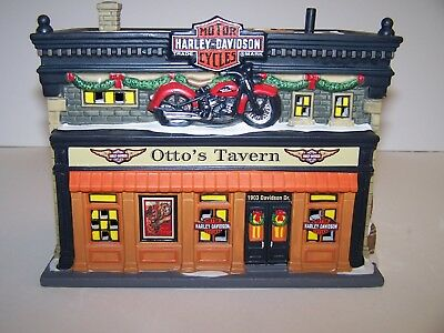 Dept 56 Christmas In The City   Otto's  Harley Tavern #4042393 Harley Davidson