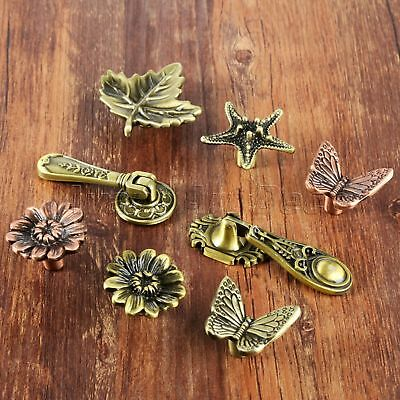 Antique Cabinet Drawer Pull Knobs Retro Leaf Starfish Butterfly Furniture Handle