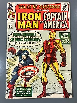 Tales of Suspense No. #59 Iron Man First 1st Solo Captain America Jack Kirby KEY
