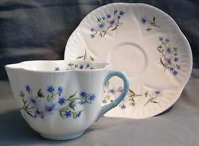 Shelley Cup & Saucer Blue Rock 13591 Dainty Shape