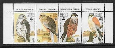 MALTA 1991 Stamps Birds of Prey SG 898/901 MNH