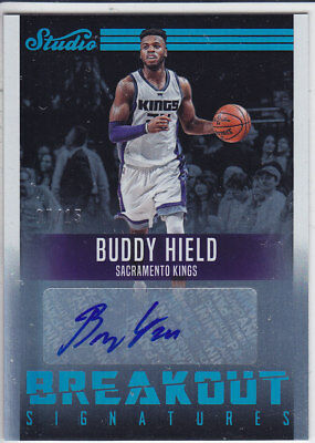 16/17 Panini STUDIO BREAKOUT TEAL Signatures #1 BUDDY HIELD 07/15 RC AUTO Kings