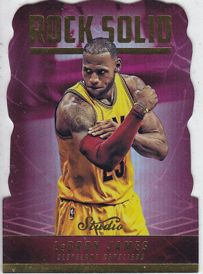 2016/17 Panini STUDIO Die-Cut ROCK SOLID #RS-LJ LEBRON JAMES Cavaliers  CASEHIT