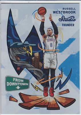2016/17 Panini STUDIO FROM DOWNTOWN #FD5 RUSSELL WESTBROOK Thunder CASEHIT RARE