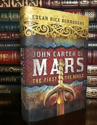 John Carter of Mars by Edgar Rice Burroughs Brand New Hardcover 1st Five Novels