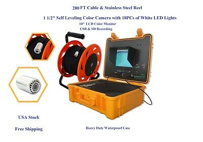 """Chimney Camera With Self Leveling Camera  10"""" LCD Control Station  200 FT Cable"""