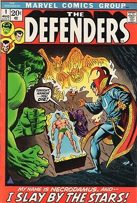 The Defenders #1 (Aug 1972, Marvel) VF/NM 9.0 Hulk, Dr Strange and Subby begin