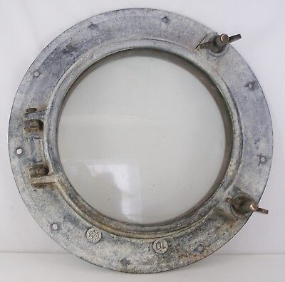 Antique porthole galvanized steel porthole,  salvaged porthole  WC #10 porthole