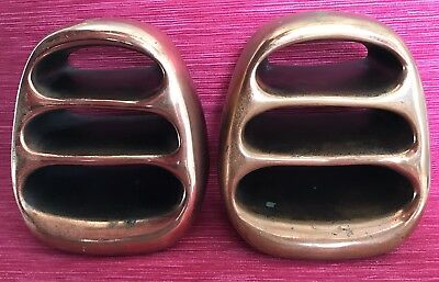 Vintage Mid-Century Modern Ben Seibel Copper Finish Bookends