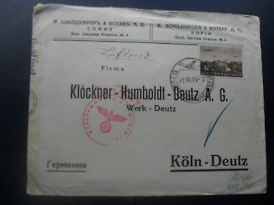 Bulgaria 1940 censored cover to Germany