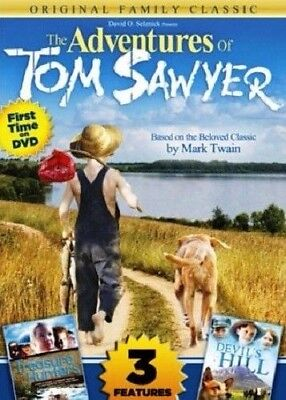 The Adventures of Tom Sawyer / Lil Treasure Hunters / Devil's Hill DVD BRAND NEW