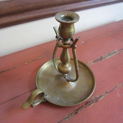 antique or vintage early american brass ship's candlestick