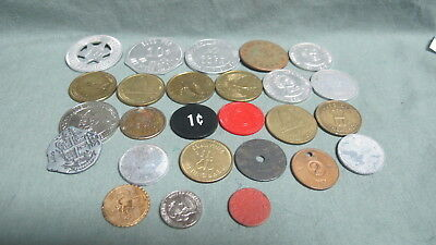 Vintage Lot of  26 Medals ,Tokens Misc.