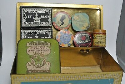 vintage 1900 containers candy, perfumes powders, pharmacy