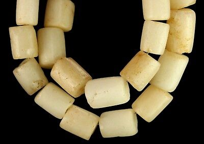 183) 25 Ancient Rock Crystal Quartzite White Stone Mali Empire Beads 7-14mm