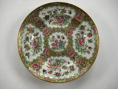 19th Century Antique Chinese Rose Medallion Porcelain Serving Plate / Dish