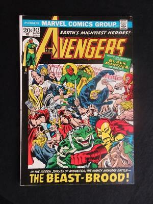 Avengers #105 MARVEL 1972 - HIGH GRADE -Captain America, Iron Man, Black Panther