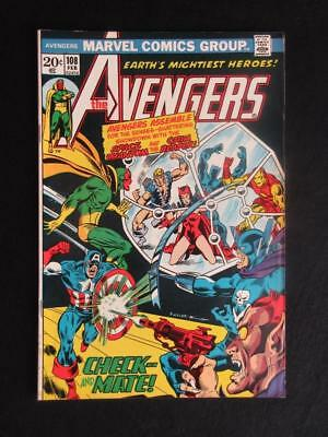 Avengers #108 MARVEL 1973 - HIGH GRADE - Captain America, Iron Man, Stan Lee!!!